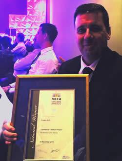 At the NECA award night