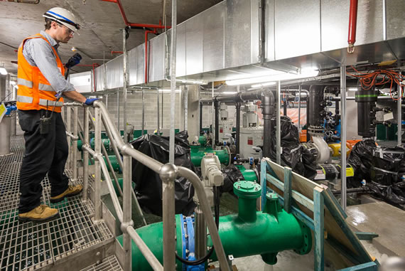 Commissioning the seawater system