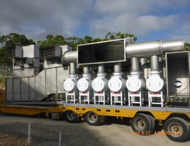 Prefabricated unit arrives by truck