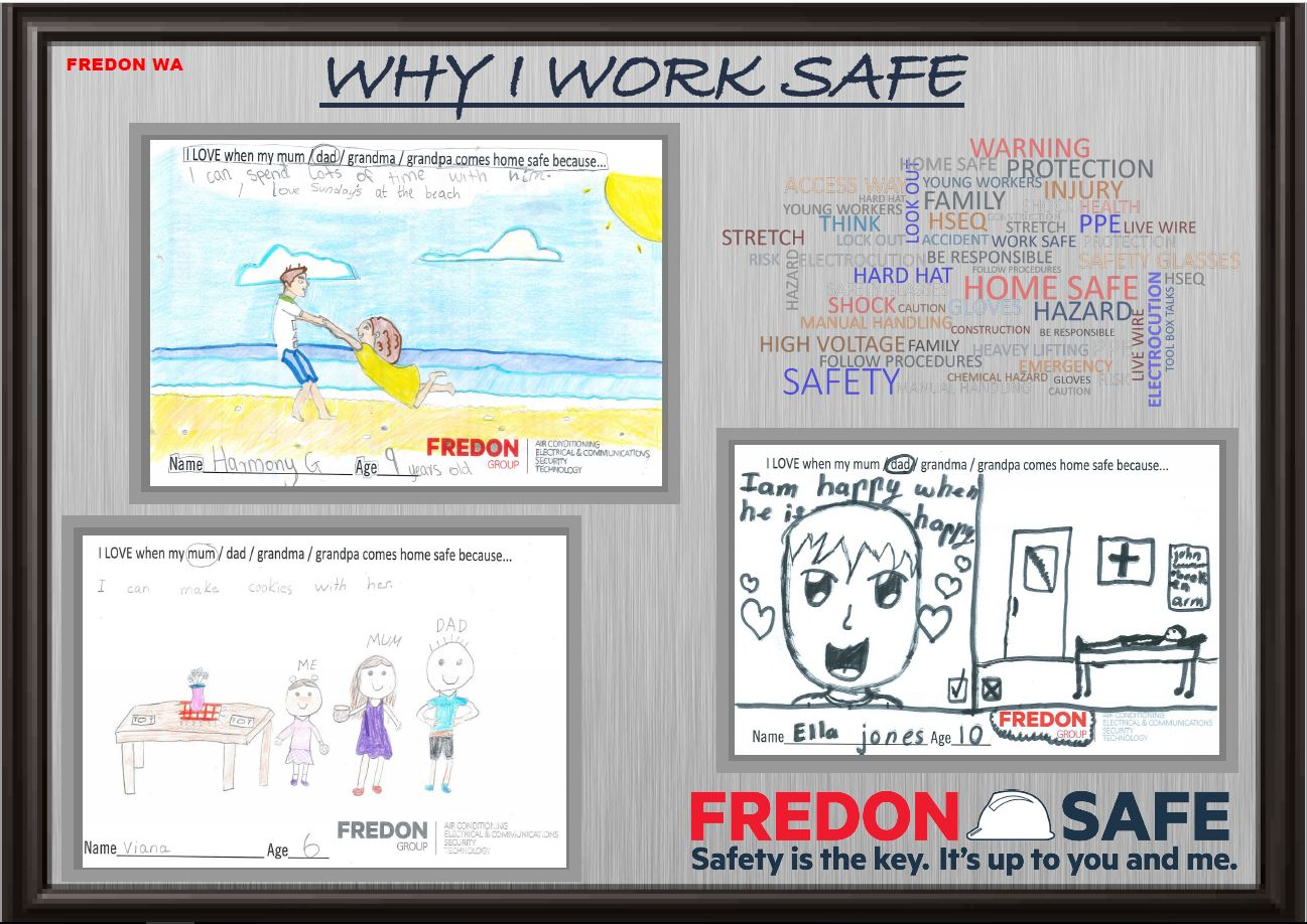 Safety drawing competition winners