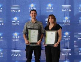 Joel Kemp - NSW NECA Apprentice Award Winner in Communications