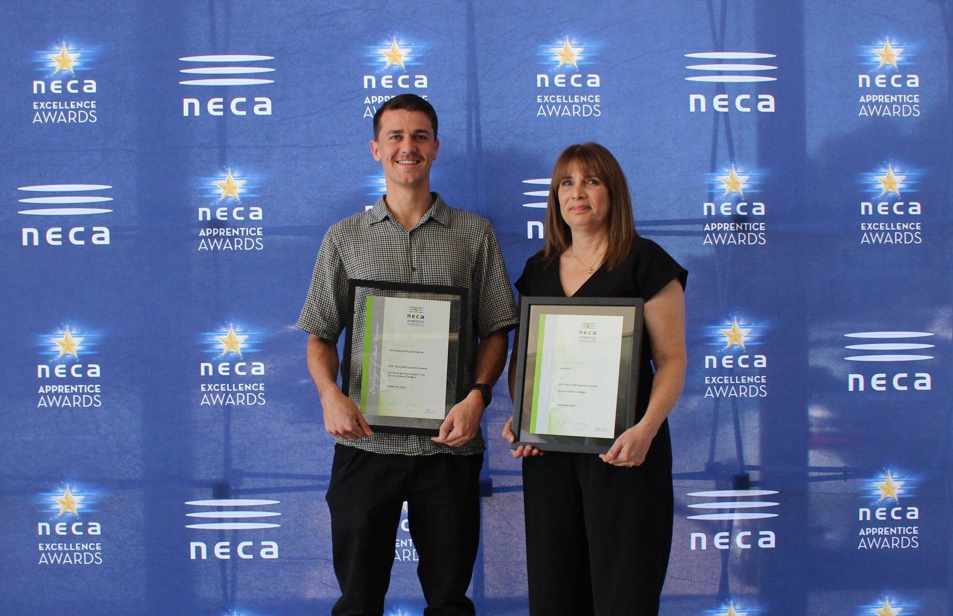 Joel Kemp – NSW NECA Apprentice Award Winner in Communications